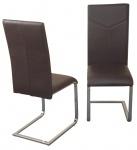 2x Freischwinger H148, Besucherstuhl Konferenzstuhl Stuhl Lehnstuhl, 102x42x54cm, braun