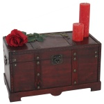 Holztruhe Holzbox Valence Antikoptik 30x57x29cm