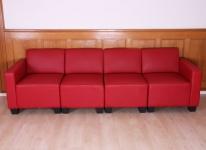 Modular 4-Sitzer Sofa Couch Lyon, Kunstleder