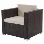 Modulares Poly-Rattan Alu-Sofa Rom Basic, Sessel