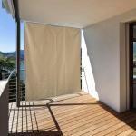vertikaler Balkonsichtschutz HE25, Sichtschutz Sonnensegel, 230x140cm