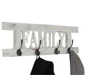 Wandgarderobe Family, Garderobe Garderobenpaneel, Shabby-Look 20x60cm