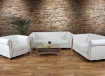 Luxus 3-2-1 Sofagarnitur Couchgarnitur Loungesofa Chesterfield Kunstleder