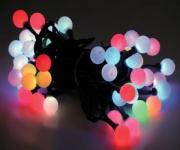 5x 10er LED Perlenkette LD03, Lichterkette Kugelkette, RGB Farbwechsel, batteriebetrieben, für Innen