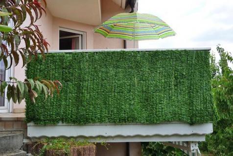 Sichtschutz Balkon Terrasse Zaun Tanne breit 300 x 100 cm