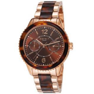 Esprit ES106742004 marin tortoise rosegold brown Damenuhr Datum rose