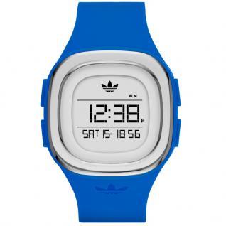 Adidas ADH3034 Uhr Damenuhr Kautschuk Datum Alarm Blau