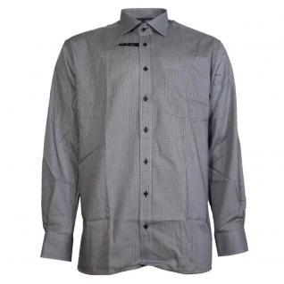 Eterna Herrenhemd Langarm Modern Fit Blau Kariert L/42 4037/19/X187