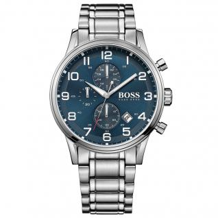 Hugo Boss Aeroliner Chronograph Uhr Datum blau