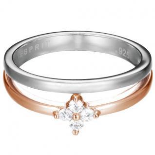 Esprit Damen Ring ES-DELICATE BLOSSOM ROSE Silber Weiß 56 (17.8)