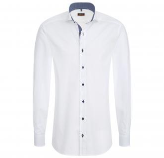 Eterna Herrenhemd Hemd Langarm Slim Fit Weiß Gr. S/38 4677/00/F14B