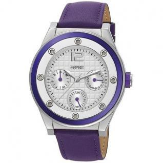 Esprit ES104172003 solana purple Uhr Damenuhr Leder Datum violett