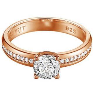 Esprit ESRG91609C Damen Ring grace glam rose Silber 925 rose 56 (17.8)