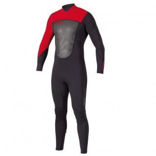 Jobe Herren Neopren Anzug Progress Full Suit F-Flex Schwarz-Rot XL - Vorschau 1