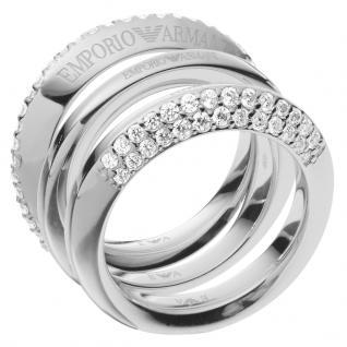 Emporio Armani EG3299040505 Damen Ring Silber Weiß 53 (16.9)