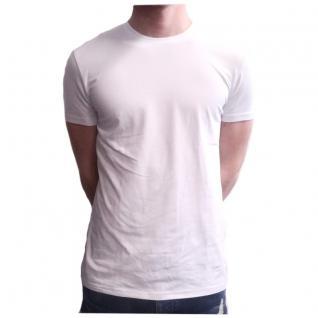 Herren T-Shirt Kurzarm Sky Rebel Rundhals Basic Weiß Gr. S