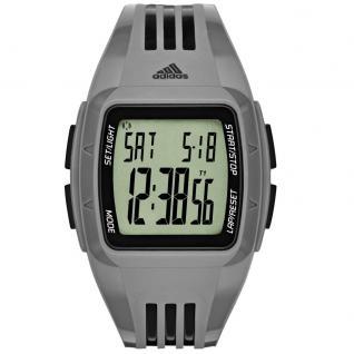 Adidas DURAMO Uhr Herrenuhr Kunststoff Datum Alarm grau