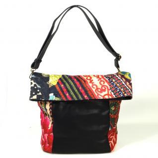 Desigual Bols Ibiza Casilda Schwarz Pink 67X51B9 Handtasche Tasche