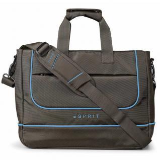 Esprit SL 4-drive notebook bag brown-blue 12430 Notebooktasche