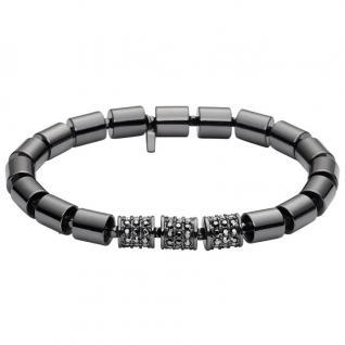 Fossil JA6764 Damen Armband Metall Glas schwarz 17, 5 cm