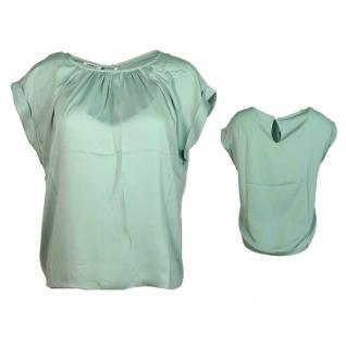 Only Damen Shirt Top Ärmellos REESE S/S Top Blau Gr. 40