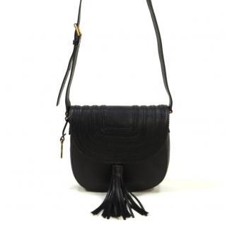 Fossil Emi Saddle Bag Schwarz ZB6849-001 Handtasche Tasche Leder