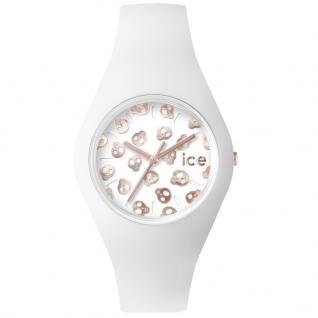 Ice-Watch ICE.SK.WRG.S.S.15 ICE SKULL White Rose Gold Small Uhr weiß
