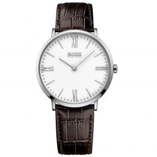 Hugo Boss Jackson Uhr Herrenuhr Lederarmband braun
