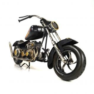 Starlabels 904352 Deko Motorrad Chopper Schwarz