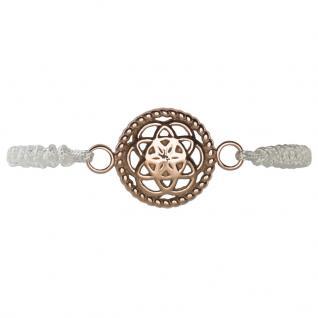 Traumfänger TFBS02ROWH Damen Armband Blume Stoff weiß 28, 5 cm
