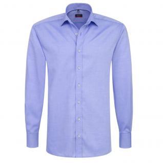 Eterna Herrenhemd Langarm Modern Fit Blau Gr. XL/44 8100/12/X177