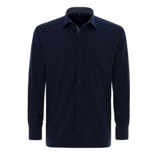 Eterna Herrenhemd Langarm Modern Fit Blau XL/44 Hemd 8501/19/X37R