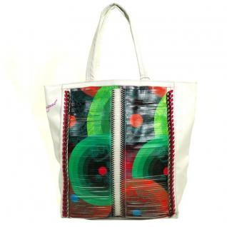 Desigual SHOPPING CHAIN ME Weiß-Grün 40X5187-1001 Shopper Tasche