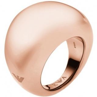 Emporio Armani EGS1589 Damen Ring Edelstahl rose-braun 55 (17.5)
