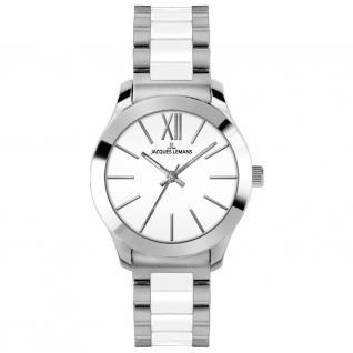 Jacques Lemans ROME Uhr Damenuhr kratzfestes Keramik weiß