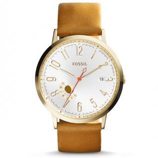 Fossil ES3750 VINTAGE MUSE Uhr Damenuhr Lederarmband Datum braun gold