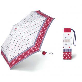 Esprit Petito polka dots raspberry Regenschirm Taschenschirm