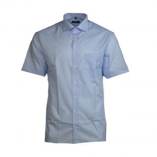 Eterna Herrenhemd Kurzarm 8220/11/C767 Hemd Modern Fit Blau XL/43