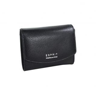 Esprit Geldbörse Classic City Wallet Schwarz Damen Lederbörse Börse