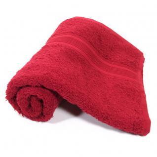 Naturemark 4er Pack Frottee Handtücher 500q/qm Qualität 50x100cm (Rot)