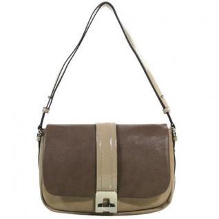 Esprit LYNNE Grau-Braun L15051-036 Damen Handtasche Schultertasche