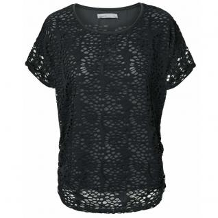 Vero Moda Damen T-Shirt Spitzenshirt Kurzarm SONIA Top BOO Schwarz S