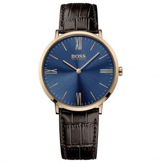 Hugo Boss 1513458 Slim Ultra Jackson Uhr Herrenuhr Lederarmband Braun