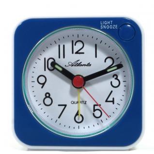 Atlanta 1230-5 Wecker Analog Licht Alarm weiss blau