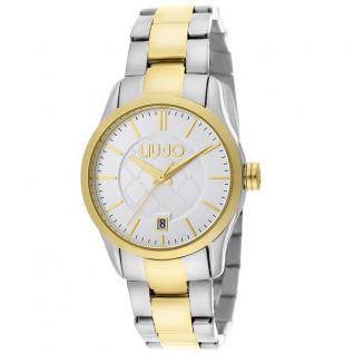 LIU JO TLJ950 TESS Uhr Damenuhr Edelstahl Datum bicolor gold