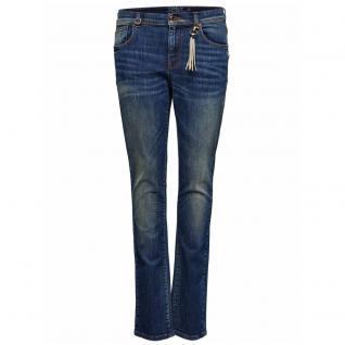 Only Damen Jeans Hose GEMMA Low Girlfriend DNM Blau Gr. 25W / 32L