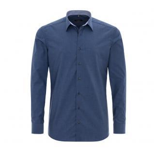 Eterna Herrenhemd Langarm Modern Fit Blau M/40 Hemd 8500/14/X35P