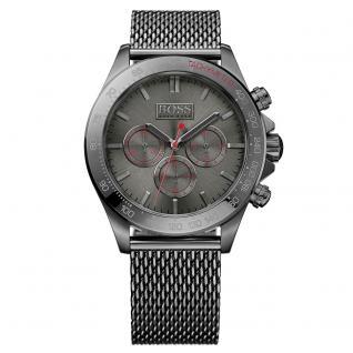 Hugo Boss 1513443 Ikon Chronograph Uhr Herrenuhr Edelstahl Chrono grau