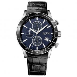 Hugo Boss 1513391 Rafale Chronograph Uhr Herrenuhr Lede Datum Schwarz