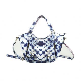 Desigual Bols Rotterdam Mini Splash Blau Weiß Tasche Schultertasche